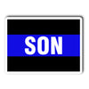 Thin Blue Line Son Decal Sticker