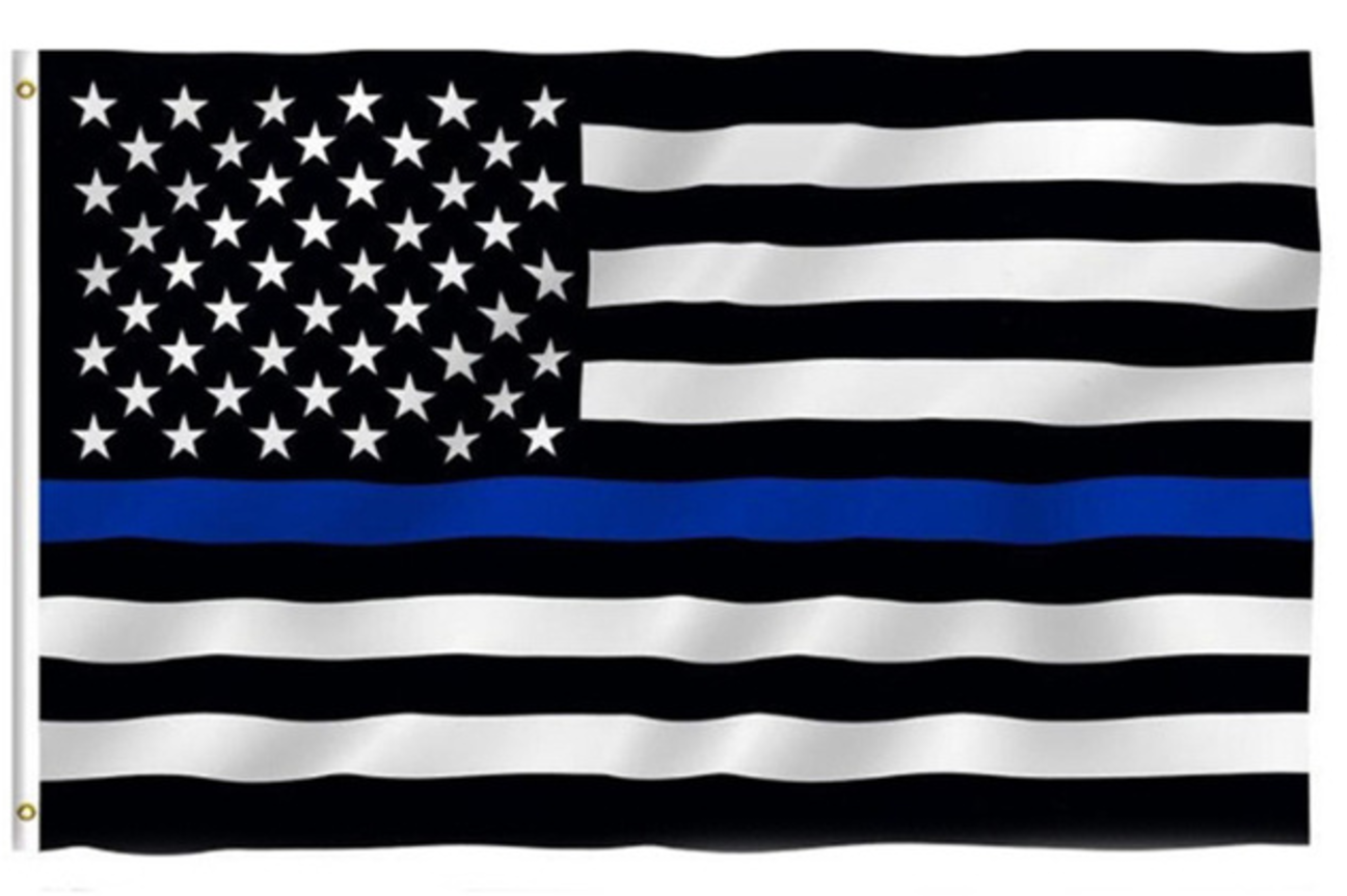 thin blue line american flag 3 by 5 foot flag with grommets thin