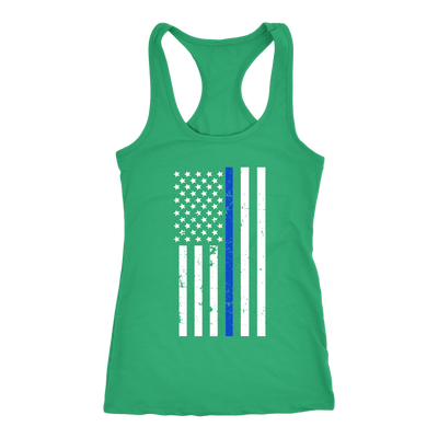 Women's Thin Blue Line Flag Tank Tops