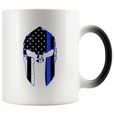 Thin Blue Line Spartan Color Changing Mug