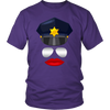 Female Cop Face Shirts & Hoodies