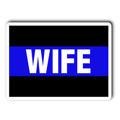 Thin Blue Line Wife Decal Sticker