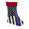 Thin Blue Line Police Christmas Stocking