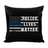 Police Lives Matter Blue Line American Flag Pillow