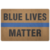Blue Lives Matter Doormat