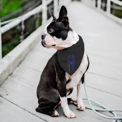 Thin Blue Line Spartan Pet Bandana