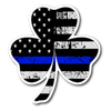 Shamrock Thin Blue Line Flag Sticker Decal