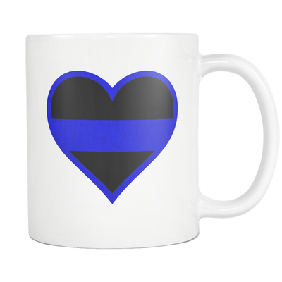 Beautiful Thin Blue Line Heart Mug