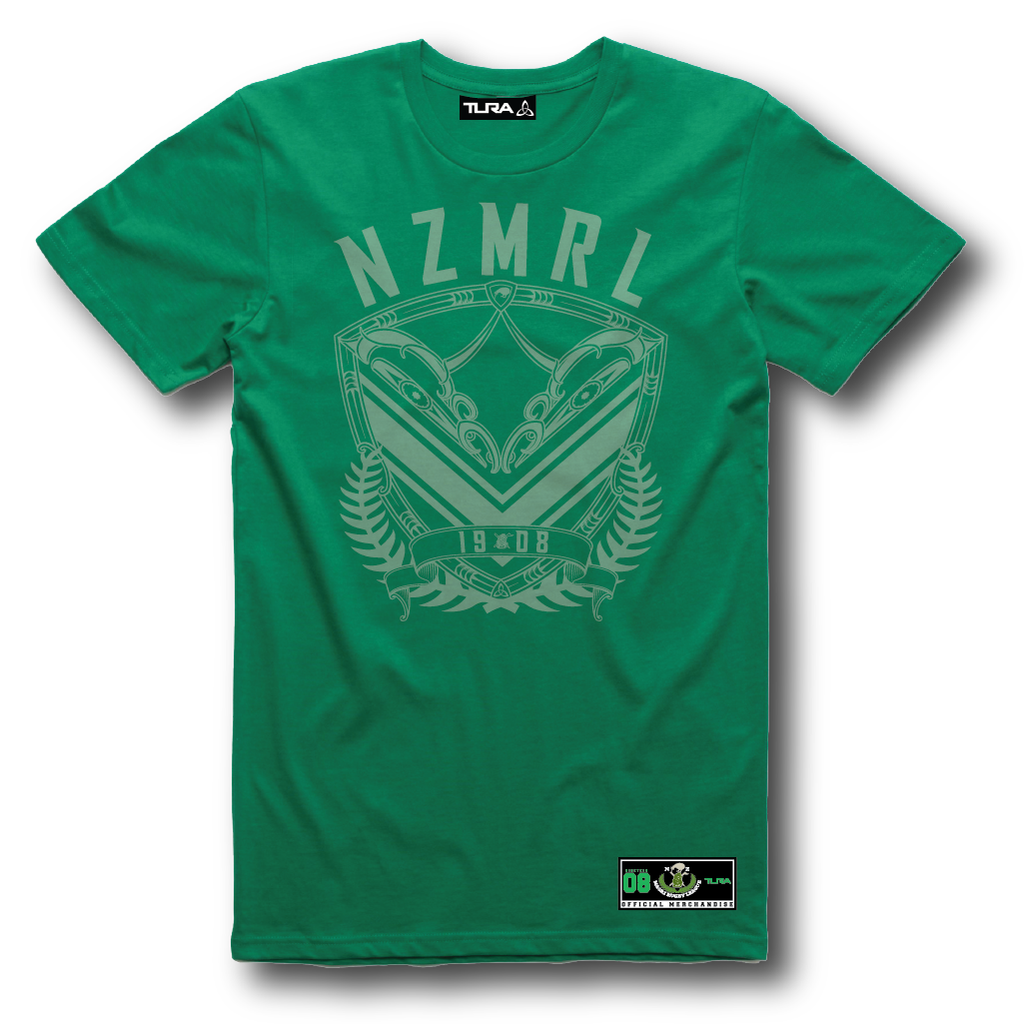 NZMRL Mens Printed Tee - Green