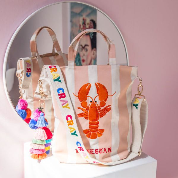 CRAY CRAY EMBROIDERED CARRYALL - PEACH