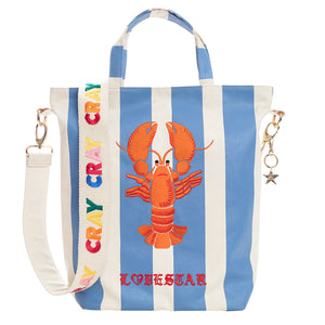 CRAY CRAY EMBROIDERED CARRYALL - SKY BLUE