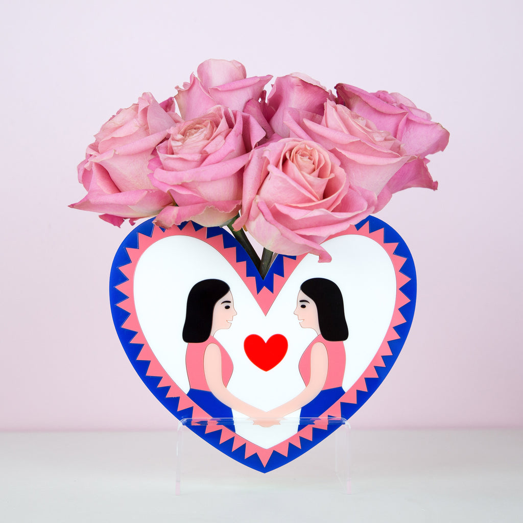 SAME LOVE HEART VASE - GIRL