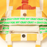 CRAY CRAY EMBROIDERED CARRYALL - MARIGOLD