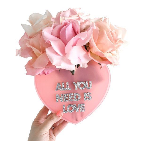ALL YOU NEED IS LOVE HEART VASE