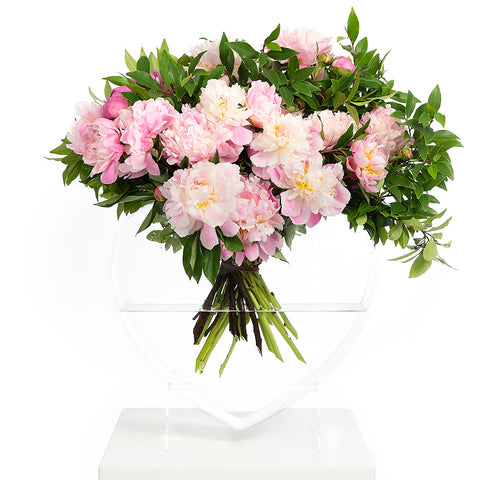 CONFETTI DAYS PINK/CLEAR WATERMELON VASE