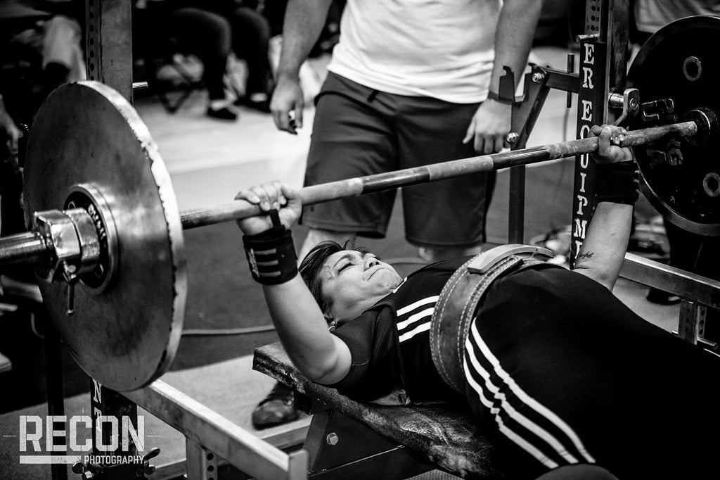 Girl Benching Pressing
