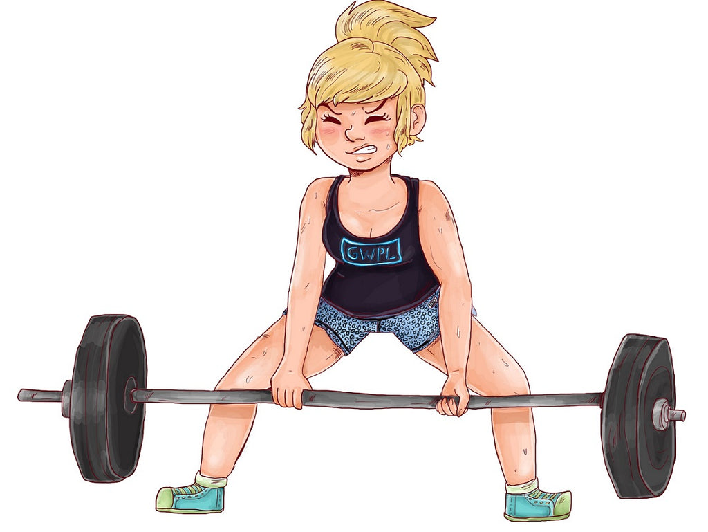 Girls Deadlifting