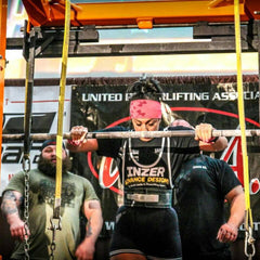 Powerlifting women squats
