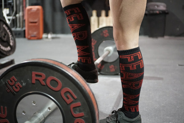 Fear Me Deadlift Socks