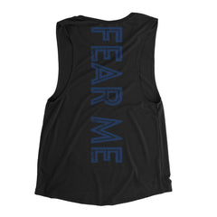 Fear Me Blue- Muscle Tank