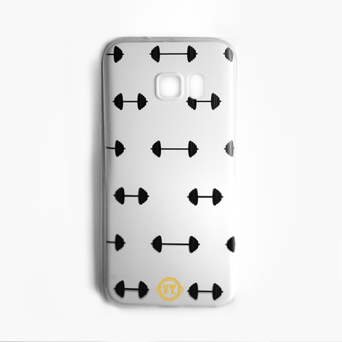 Barbell phone case