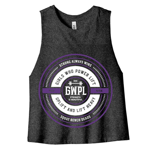 Badge of Honor Crop Tank- Gray