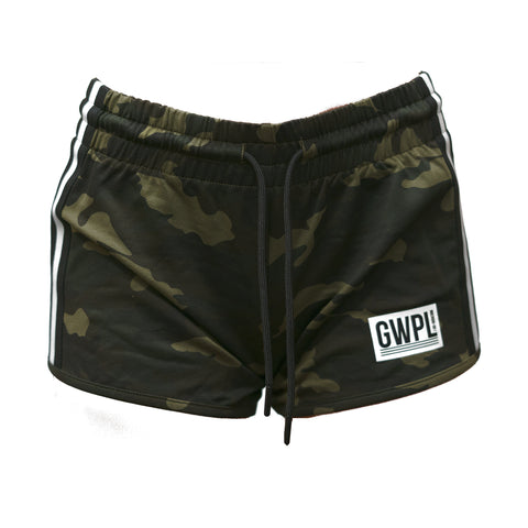 No Cardio Shorts- Green Camo
