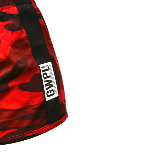 No Cardio Shorts- Red Camo