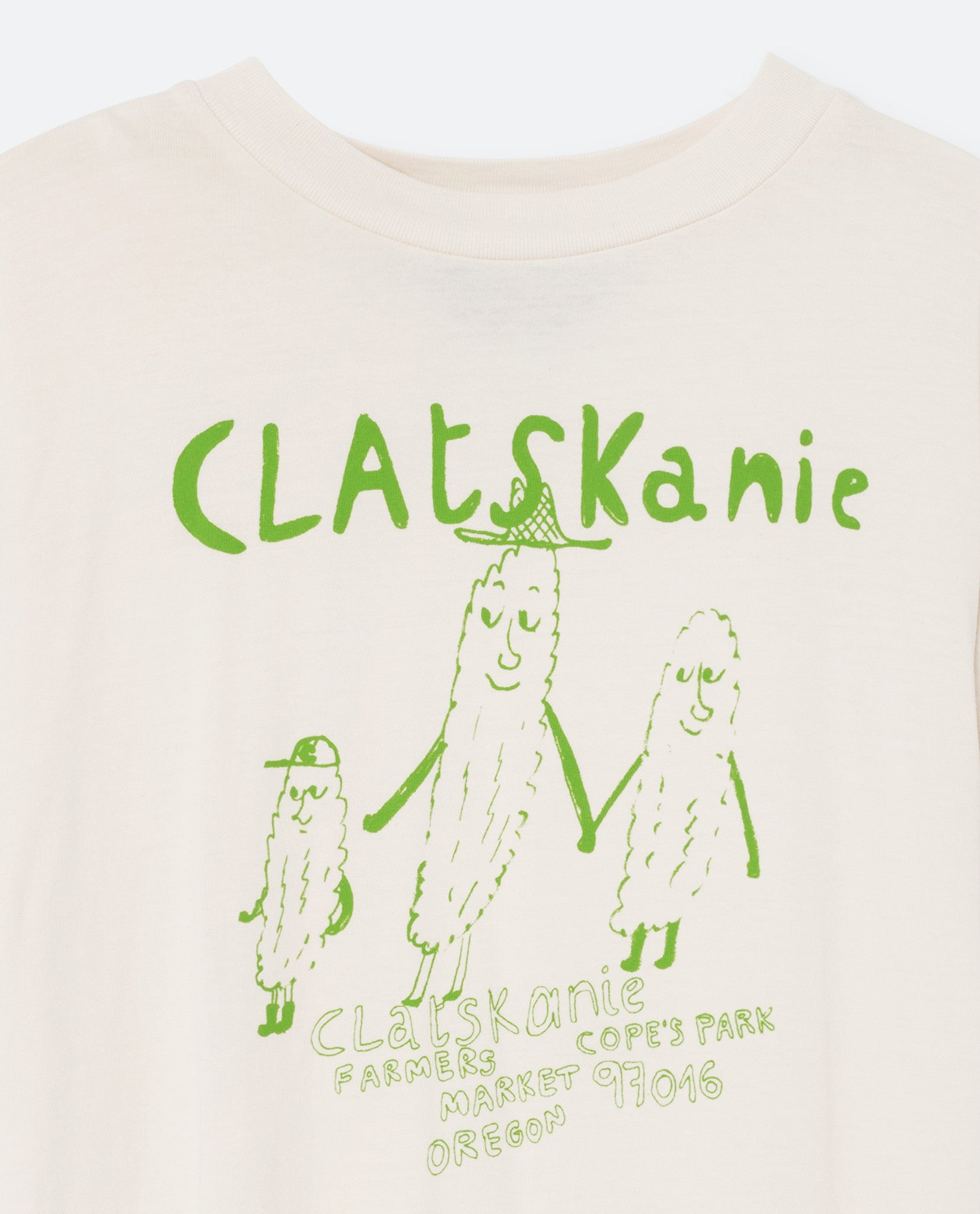 The Animals Observatory Raw White Clatskaine T-shirt