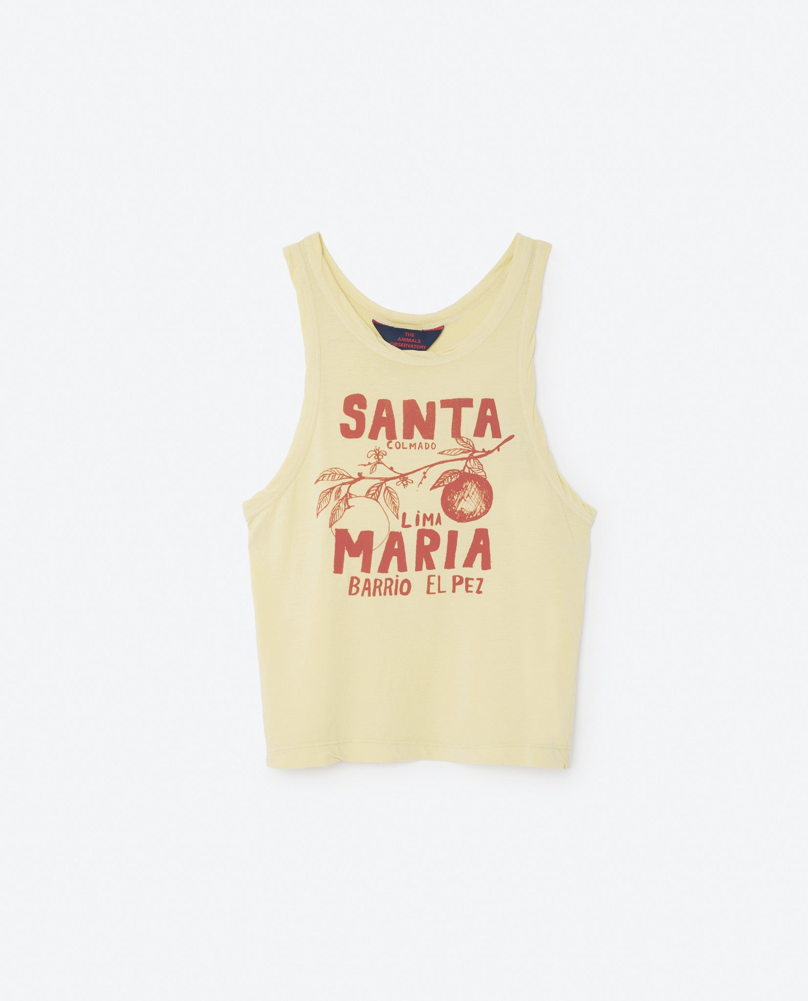 The Animals Observatory Soft Yellow Santa Maria T-shirt