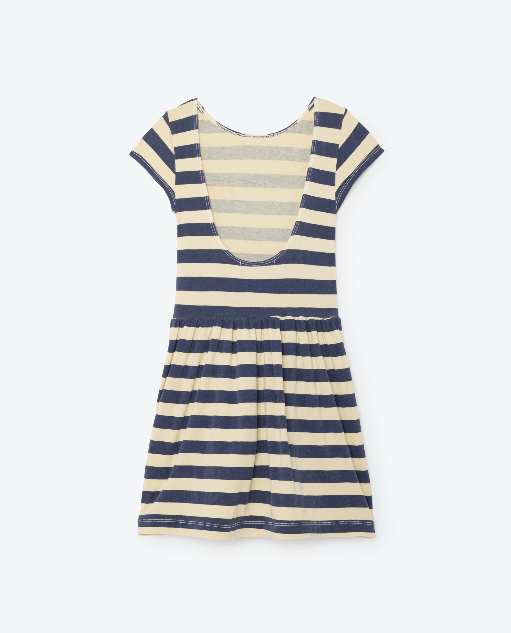 The Animals Observatory Soft Yellow Stripes Sparrow Dress