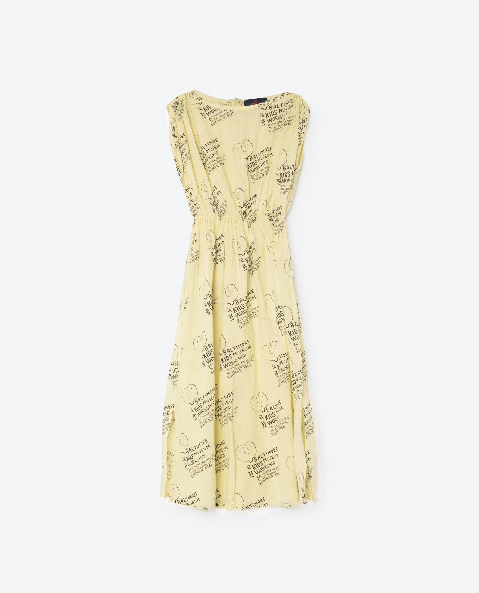 The Animals Observatory Soft Yellow Kids Museum Dress