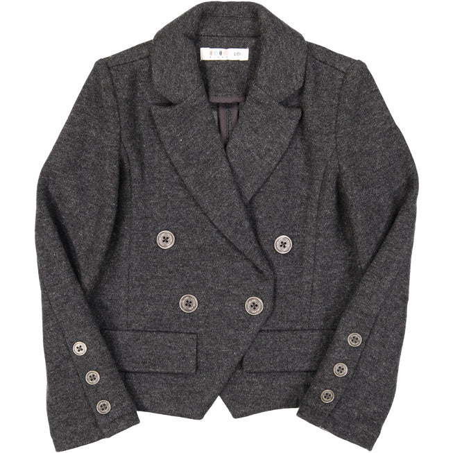 Coco Blanc Dark Grey Knit Blazer