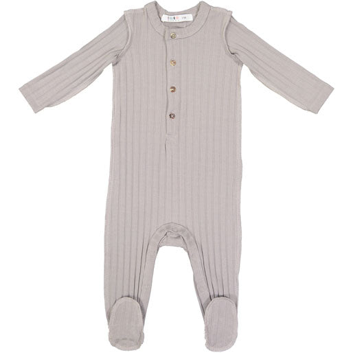 Coco Blanc Grey Ribbed Onesie - Ladida