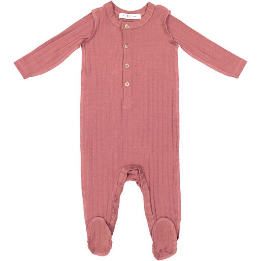 Coco Blanc Rose Ribbed Onesie - Ladida
