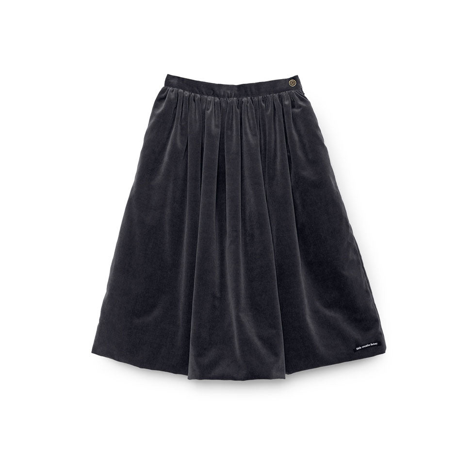 Little Creative Factory Soft Grey Rose Velvet Skirt - Ladida