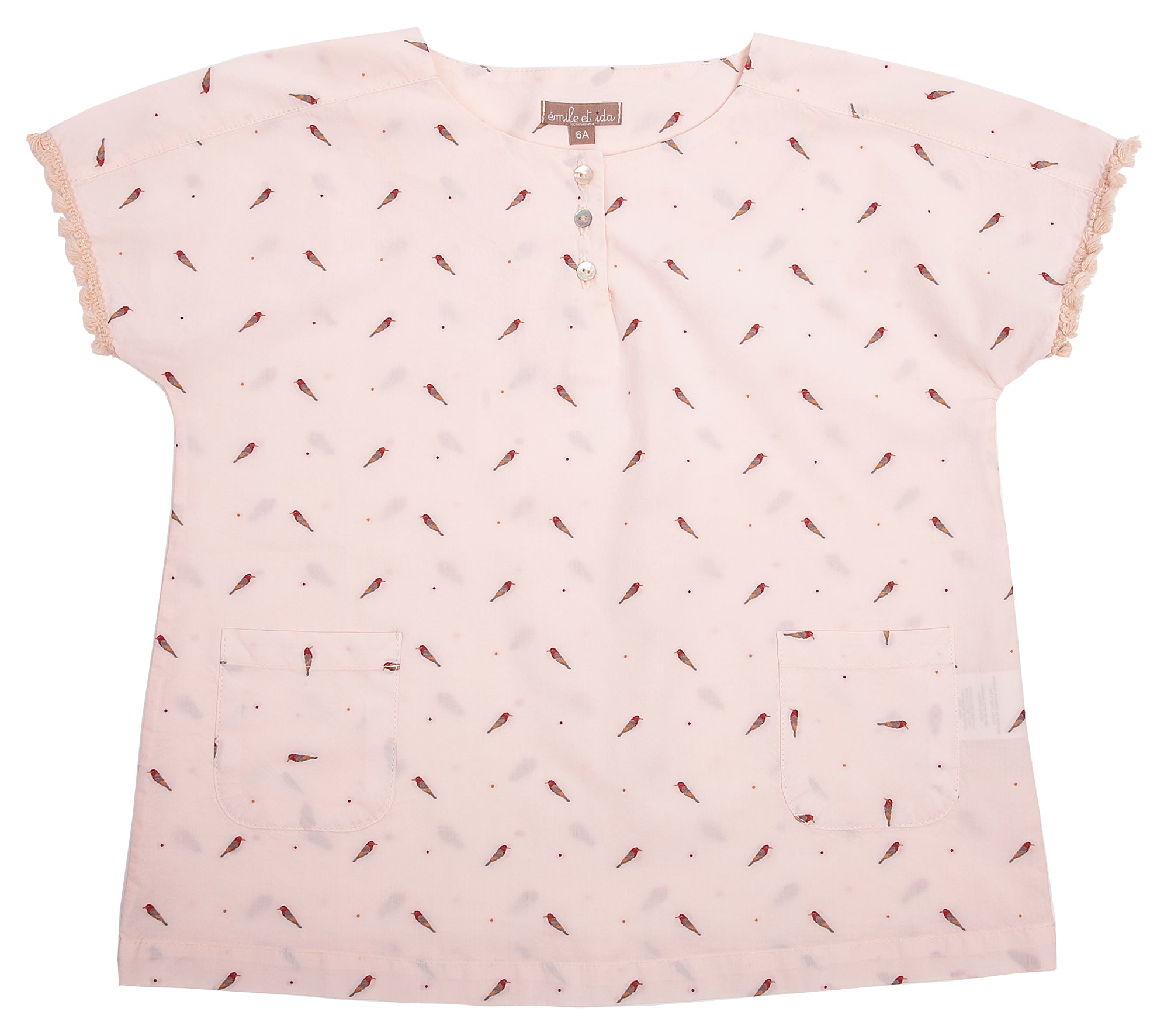 Emile Pink Parrot Print Blouse - Ladida