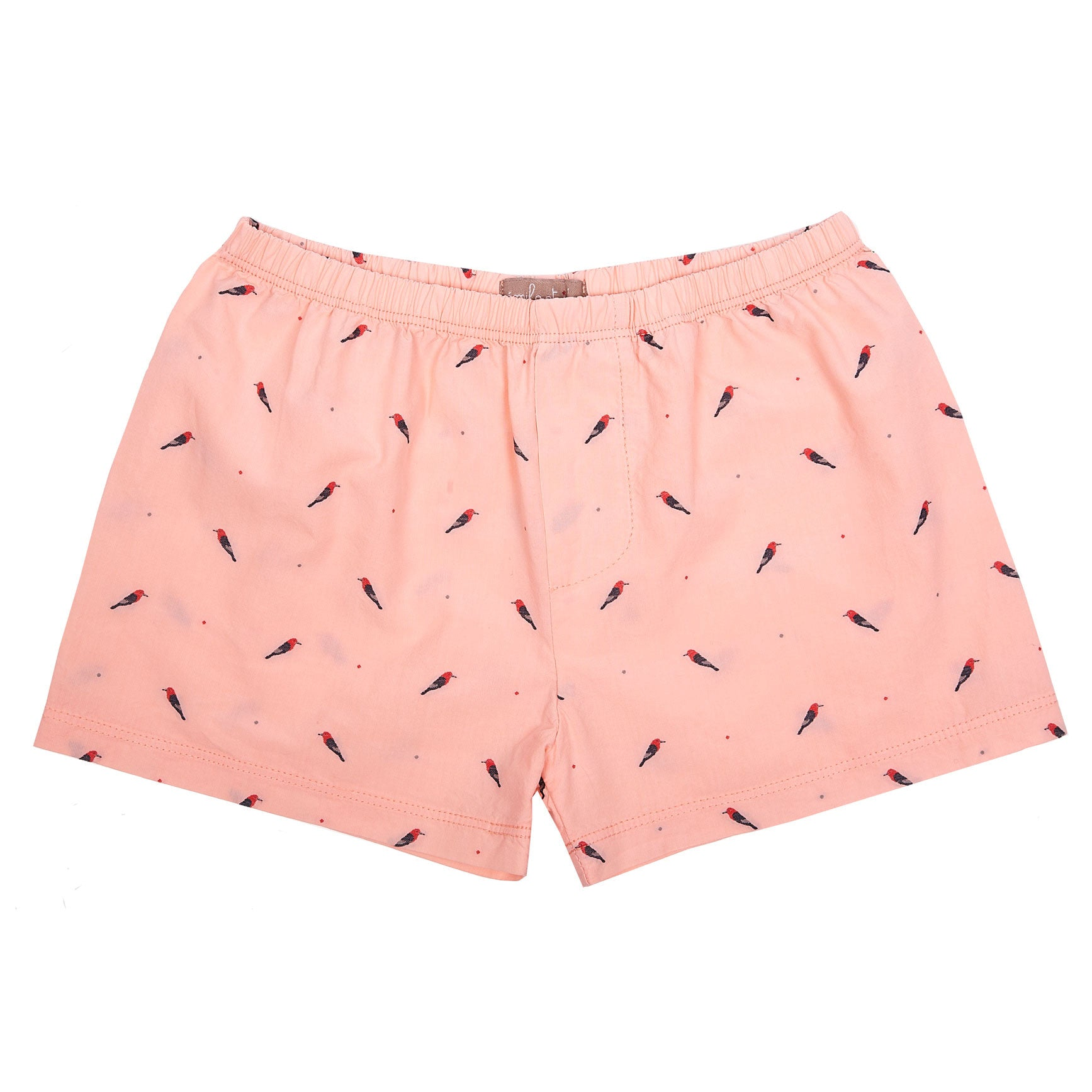 Emile Pink Parrot Print Shorts - Ladida