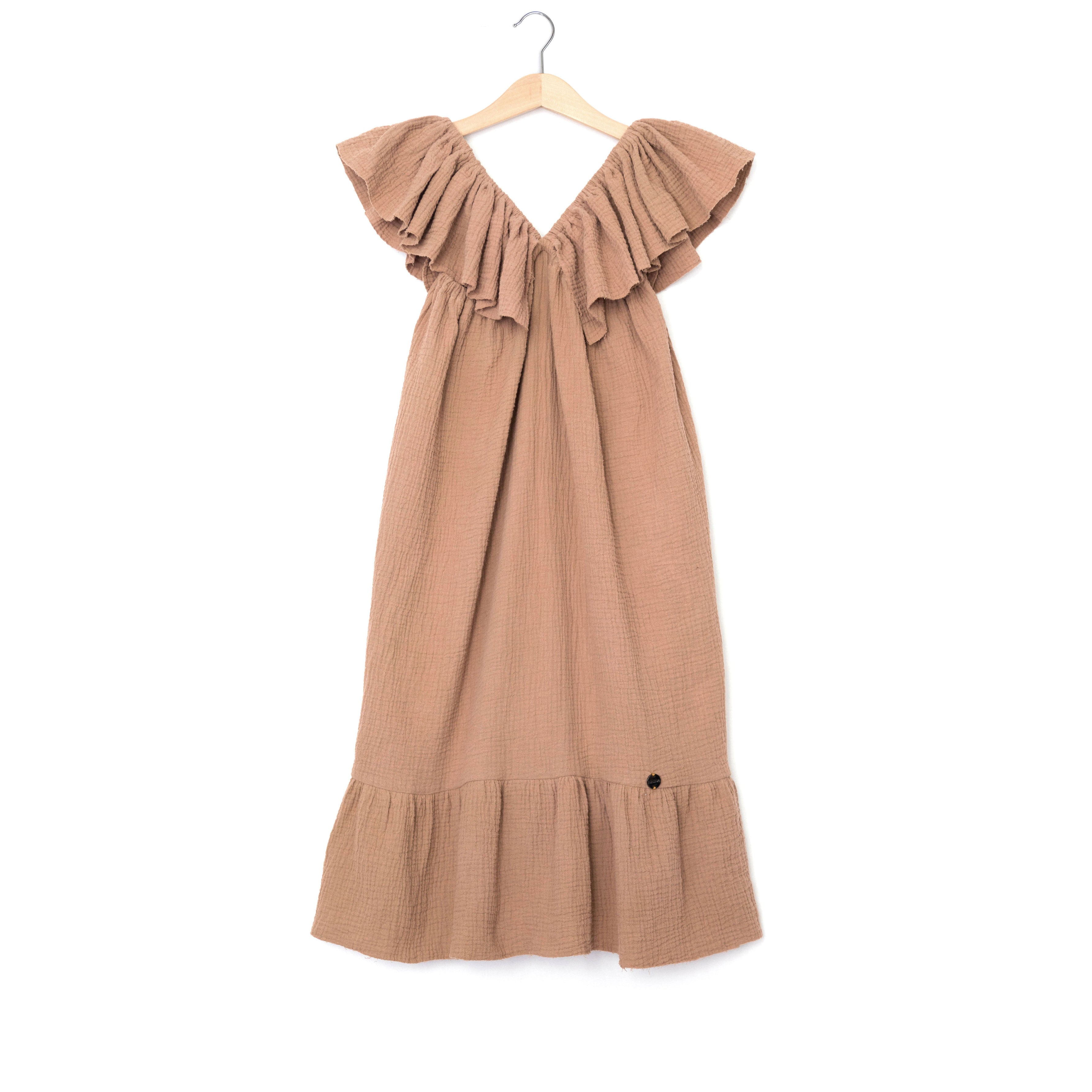 Ninina Long Ruffle Dress
