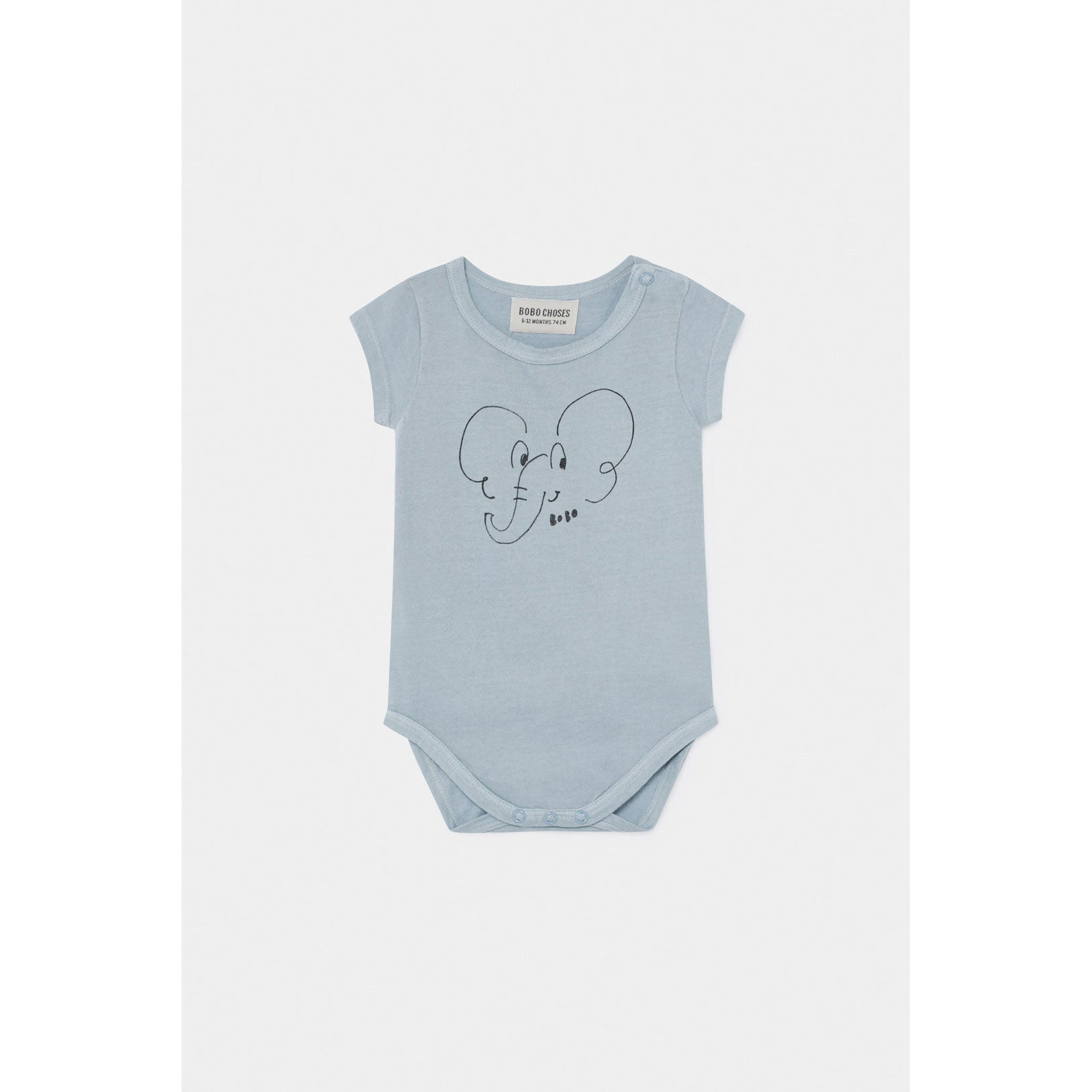 Bobo Choses Elephant Short Sleeve Bodysuit