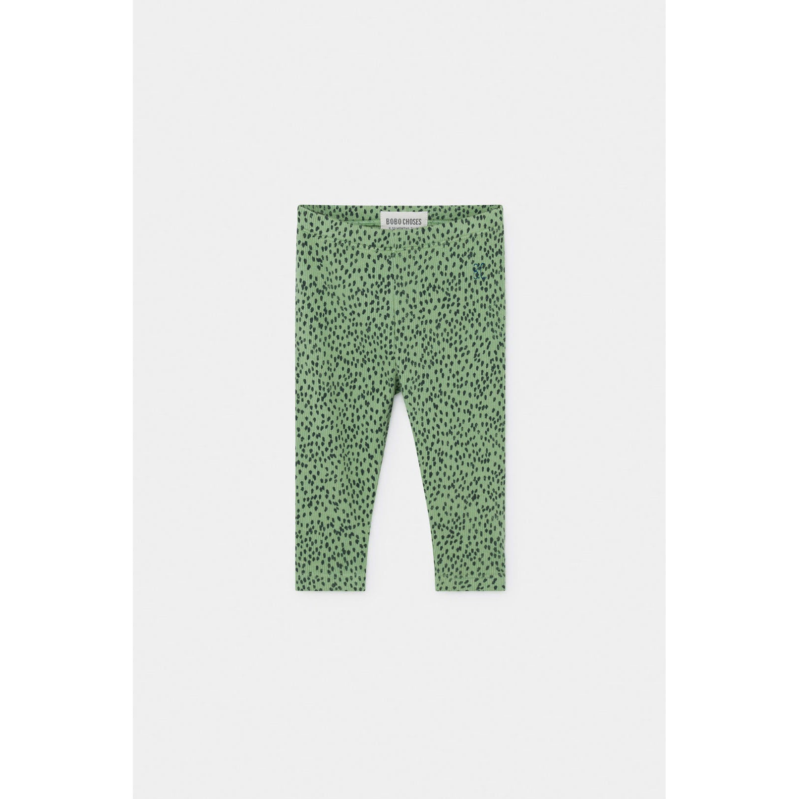 Bobo Choses Green Leopard Baby Leggings