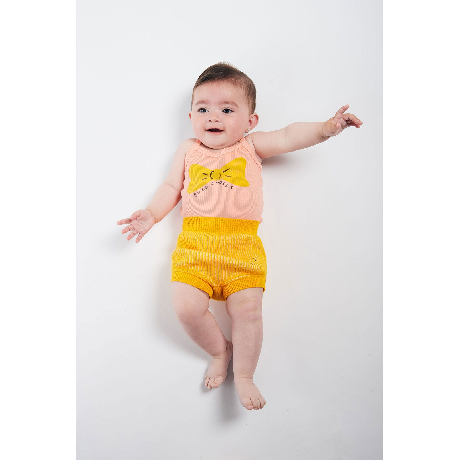 Bobo Choses Yellow Striped Knitted Culotte