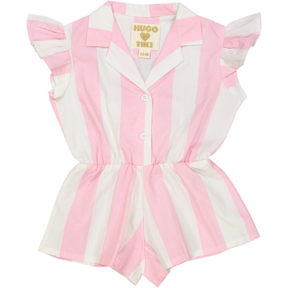 Hugo Pink Stripe Ruffled Plays - Ladida
