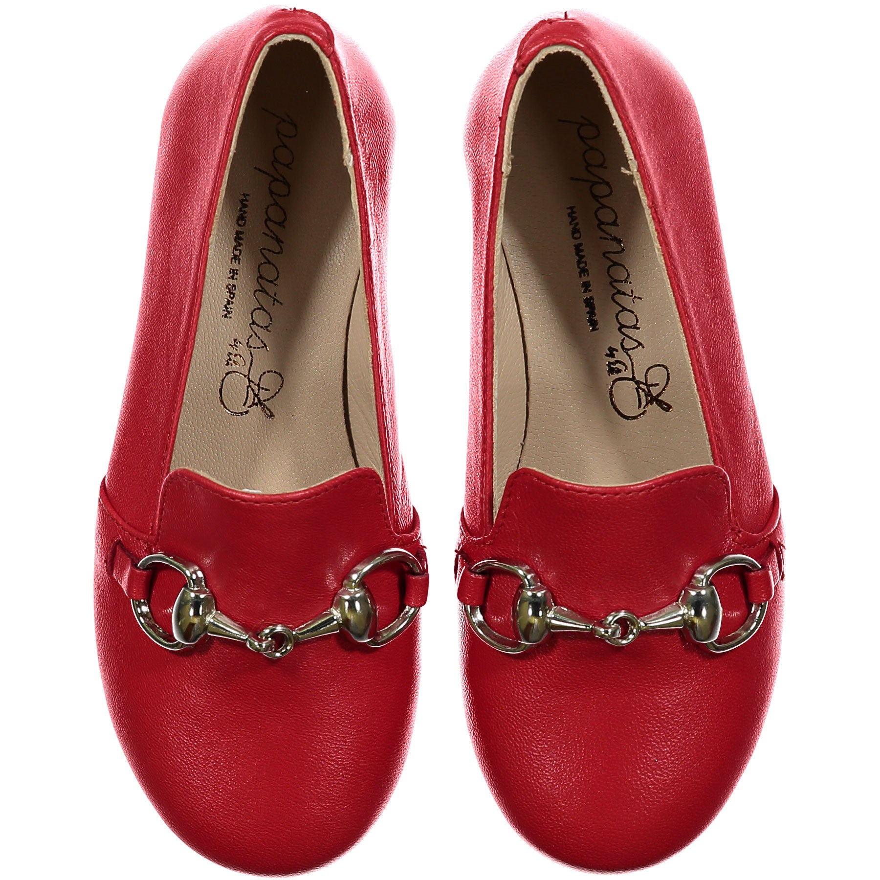 Papanatas Red Buckle Slip-Ons