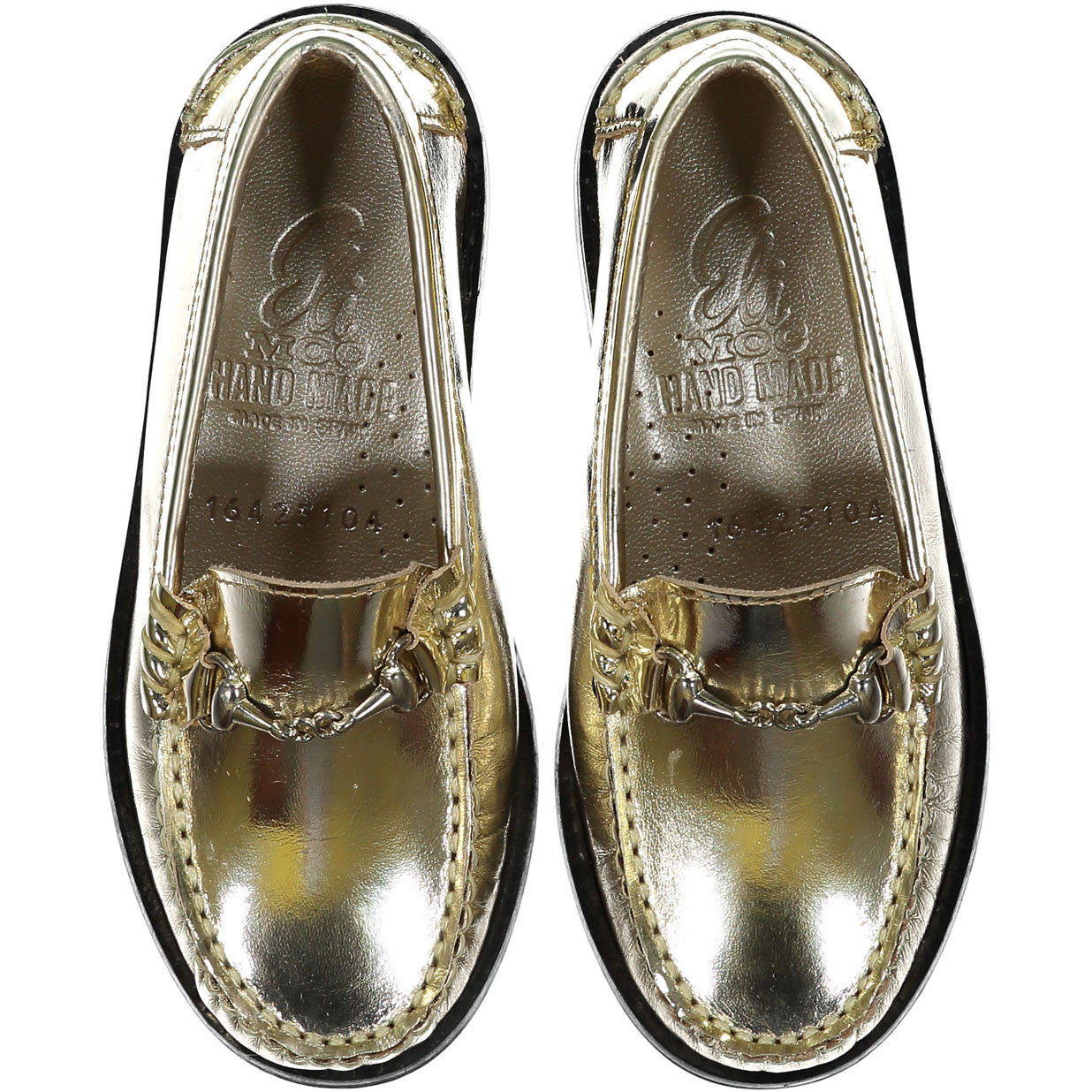 Papanatas Gold Leather Loafer