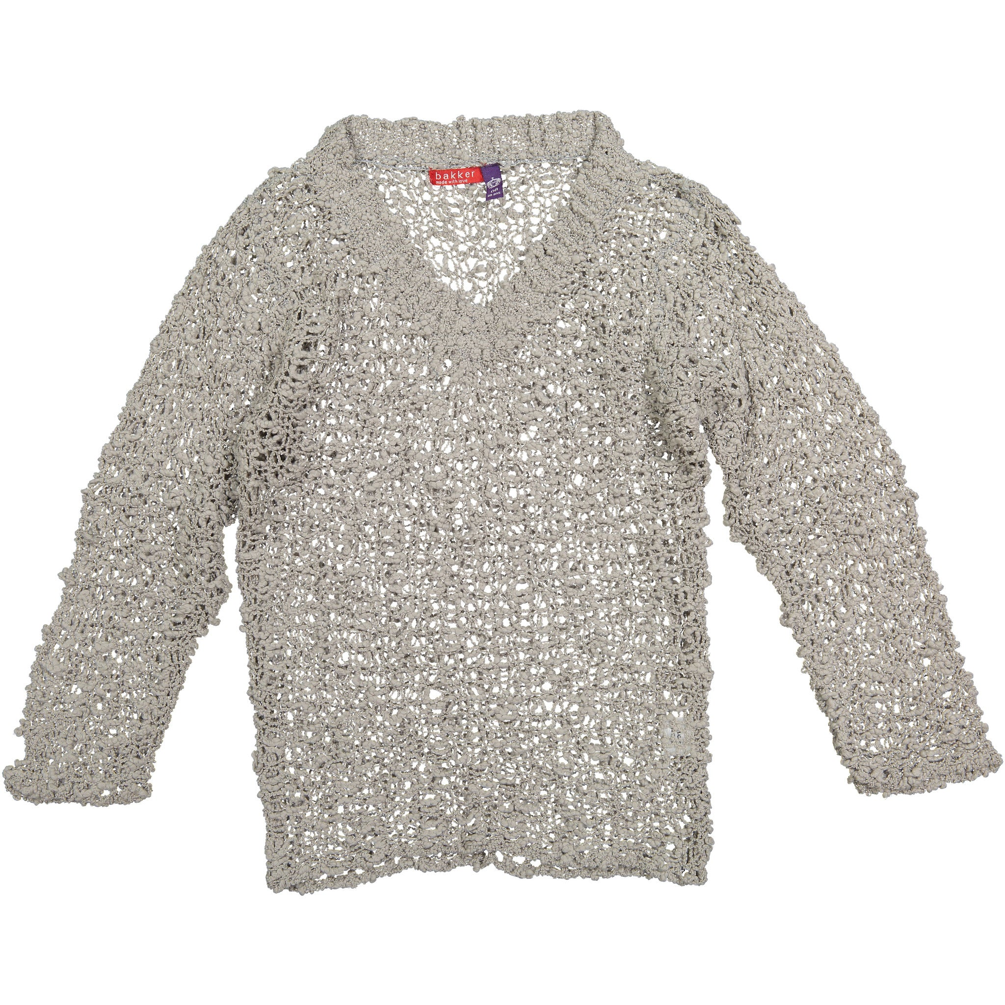 Bakker Grey Pull Pop Sweater - Ladida
