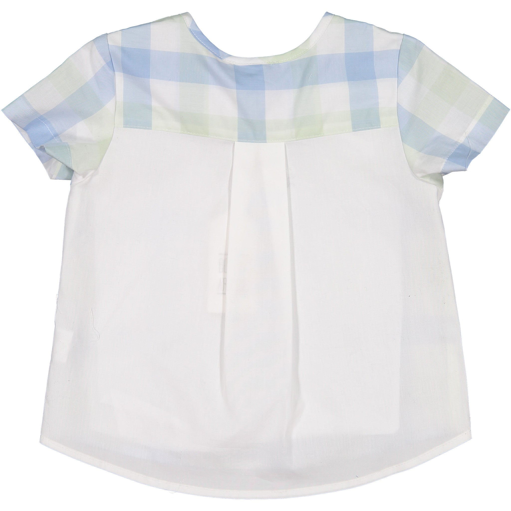 Boys ~and Arrows Mint/Blue Check Tunic