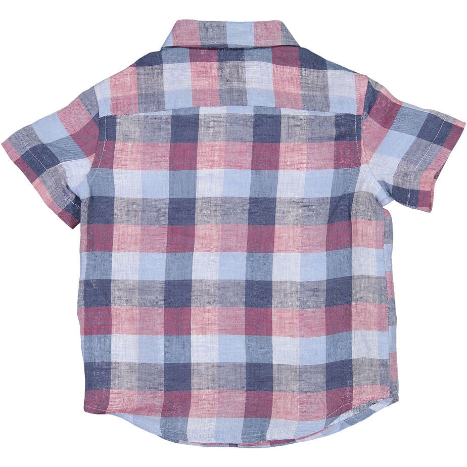 Boys & Arrows Berry/Blue Check Linen Shirt - Ladida