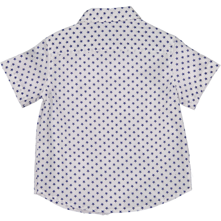 Boys ~and Arrows White Star Print Shirt