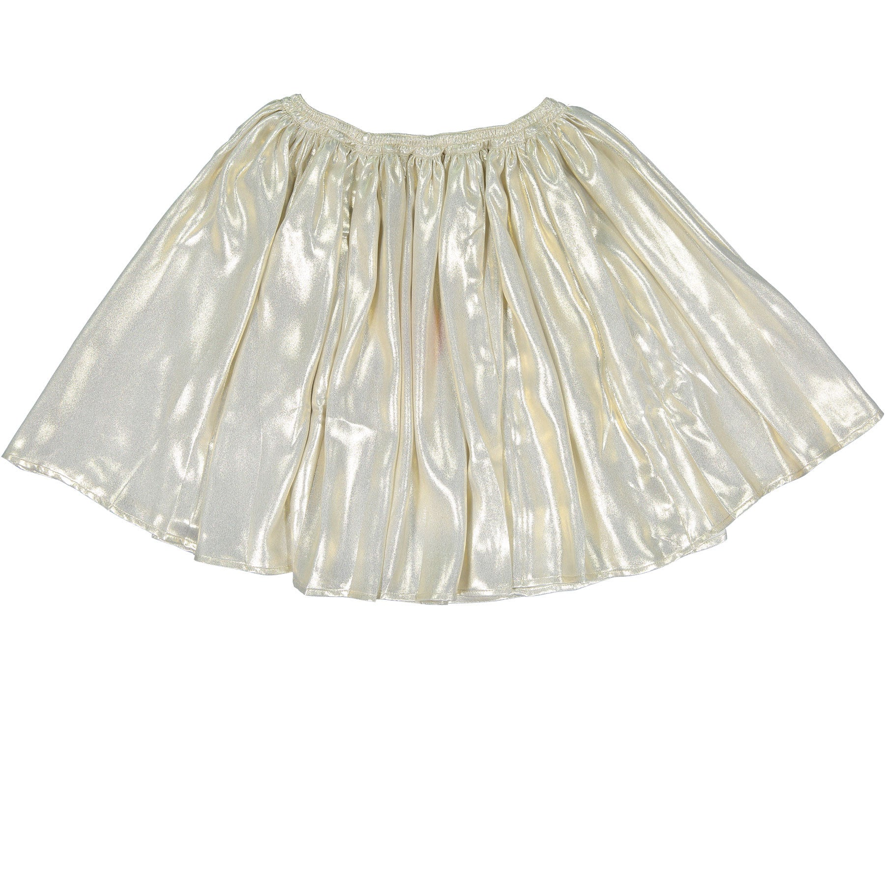 Maan Thin Gold Flared Skirt - Ladida
